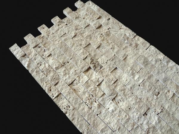 2,5x5 cm Krem Patlatma Traverten-PT103