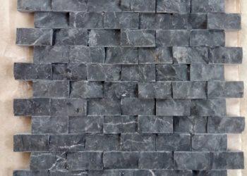 2,5x5 cm siyah patlatma mermer-PT152