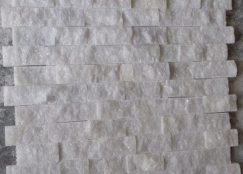 2,5x5 cm beyaz patlatma mermer-PT102