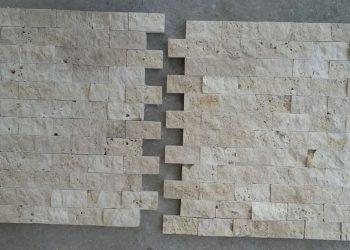 2,5x5 cm light patlatma traverten-pt103